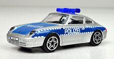 Porsche 911 Carrera Polizei Deutschland blau-weiß 1:43 von bburago