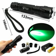 501B 800LM Cree T6 LED Tactical Flashlight Torch+18650 Battery+Charger (Green)