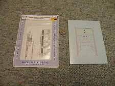 Microscale decals N 60-699 Santa Fe F units cat whiskers scheme 1940-52K109