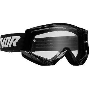Thor Combat Racer Goggles Black/White for ATV UTV Offroad Motocross Riding
