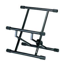 Quiik-Lok USA Short Amp Stand, Double-Braced, Adjustable Tilt, BS-317BK
