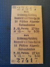 Eisenbahn Fahrkarte  1975  Melk - Schauboden