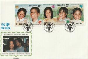 1979 Nauru FDC cover International Year of the Child