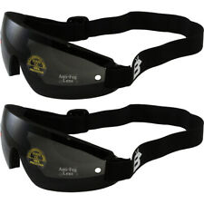 2 PAIR OF Birdz Wing Skydive Sky Diving Goggles Smoked Lens UV400