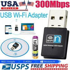 300Mbps Mini Wireless USB Wifi Adapter N LAN Antenna Network 802.11n/g/b
