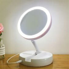 Magnifying Makeup Mirror Beauty Stand Double Side With LED Light Cosmetic Mirror