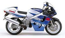Suzuki 4 Color Retocar Pintura Kit 1997 GSXR600 GSXR750 Azul y Blanco.