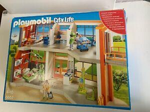 Playmobil 6657 City Life Furnished Children's Hospital Sealed