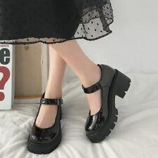 New Black High Heels Shoes Women Pumps Fashion Patent Leather Platform Shoes