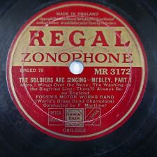 78rpm FODENS MOTOR WORKS BAND the soldiers are singing MR 3172