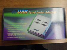 VSCOMM USB Quad Serial Adapter box (Windows XP/7/8.1/10) New