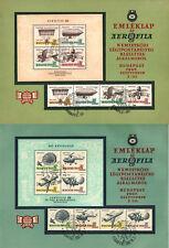 SPECIALS -HUNGARY 1967. Aerofila Aviation 2 sets+2 sheets in souvenir sheet pair