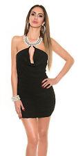 Minikleid Perendecollette Abendkleid Partykleid Cocktail Kleid XS S M 34 36 38