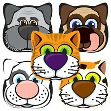 20 Animal Shapes STICKERS Party Favor Teacher Supplies Treat Bag dog cat
