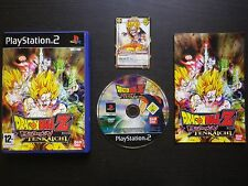 JEU PLAYSTATION 2 PS2 : DRAGON BALL Z BUDOKAI TENKAICHI + CARTE (complet, suivi)