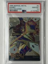 1995 Marvel Metal Gambit #4 Gold Blaster PSA 10 Gem Mint