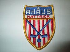 Vintage AHAUS HAT TRICK Patch Amateur Hockey Association United States