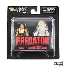 Predator Minimates Series 4 Anna Variant & Cloaked Unmasked Predator