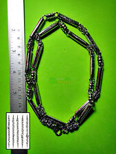 NECKLACE STAINLESS STRING MULTI HOOK HANG WEAR THAI AMULETS 30CM HATEAW 5 ROW