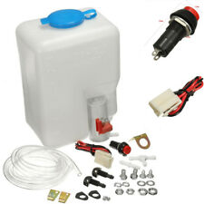 Universal Car Windshield Washer Reservoir Pump Bottle Kit w/ Hose Jets  12V 1.8L