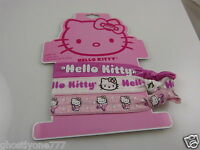 Hello Kitty sanrio bracelets or hair pony tail holders pink white