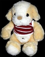 Ming Ren Plush Tan Puppy Dog Red White Shirt Teddy MingRen Toy Bastad
