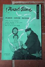 L'Avant Scène Theatre N°170 Plainte contre inconnu De Georges Neveux