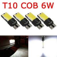 4PCS T10 W5W 194 168 LED 5W COB No Error Canbus Side White Lamp Wedge Light Bulb