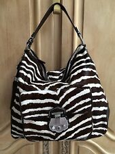 Talbots Zebra Brown and Cream Calf Hair Handbag NWT $395