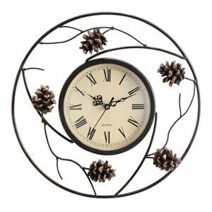 "SPI Home Pinecone Wall Clock, White, 2.5"" x 12.5"" x 12.5"""