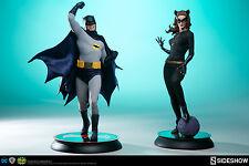 SIDESHOW CLASSIC BATMAN and CAT WOMAN PREMIUM FORMAT STATUE SET   LOW #