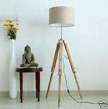 NAUTICAL WOODEN LIGHTING FLOOR LAMP TRIPOD  WOODEN LIGHTING  HOME DECOR LIGHT