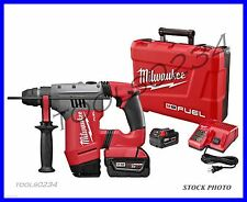 "New Milwaukee 2715-22 M18 FUEL™ 1-1/8"" SDS Plus Rotary Hammer Kit Free Shipping"