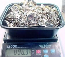 890 GRAMS STERLING SILVER SCRAP JEWELRY ECT  LOT .. CLEAN SORTED.. SOME GILDED