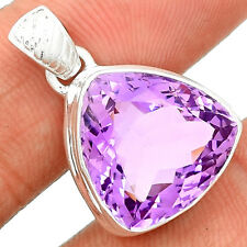 Rose De France Amethyst 925 Sterling Silver Pendant Jewelry RFAP30