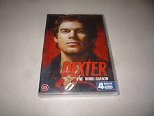 DEXTER : THE THIRD SEASON - DVD BOX SET 4 DISCS  BRAND NEW AND SEALED