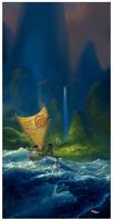 Disney Fine Art Limited Edition Canvas We Know the Way-Moana-Rob Kaz