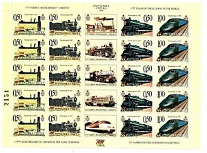 Bosnia-Republic of Srpska 2000 railway -mini sheet MNH