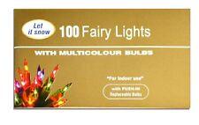 100 Multi Color Fata Luce di ricambio Lampadine Natale Decorazione Festa di Natale