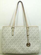Michael Kors Vanilla Jet Set Travel MD Tote Signature Handbag - Free Shipping