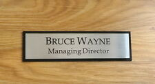 Executive Personalised Office Wall, Door Name Plate, Custom Engraved Sign Plaque