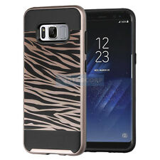 SAMSUNG GALAXY S8+ PLUS G955 ZEBRA ROSE GOLD BRUSHED IMPACT CASE SLIM FIT COVER