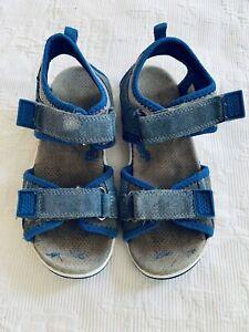Super Fit Boy Leather Sandals Size 32