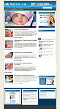 Baby Sleep Advice Website Affiliate Store Amp Banners New Domain Hosting