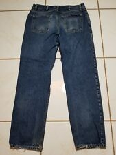 All American Clothing Co. Jeans Denim 35x34 USA MADE Distressed/Tears* B1318