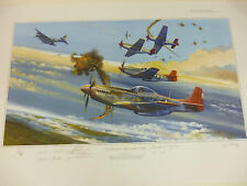Tuskegee Trigger Time Red Tail Edition by Robert Bailey 7 Airmen signers