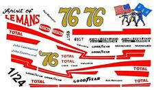 #76 Rick Mancusco Greenwood Corvette 1976 1/25th - 1/24th Scale Waterslide Decal