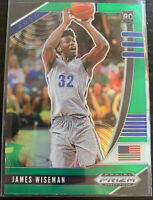 JAMES WISEMAN!!  2020 Panini Prizm GREEN PRIZM! #42 Rookie Warriors RC