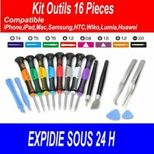 KIT 16 OUTILS / OUVERTURE / RÉPARATION / SMARTPHONE TABLETTE / IPHONE / SAMSUNG