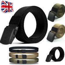Womens Mens Unisex Canvas Webbing Belt Regular Big Size Buckle Army Belts J